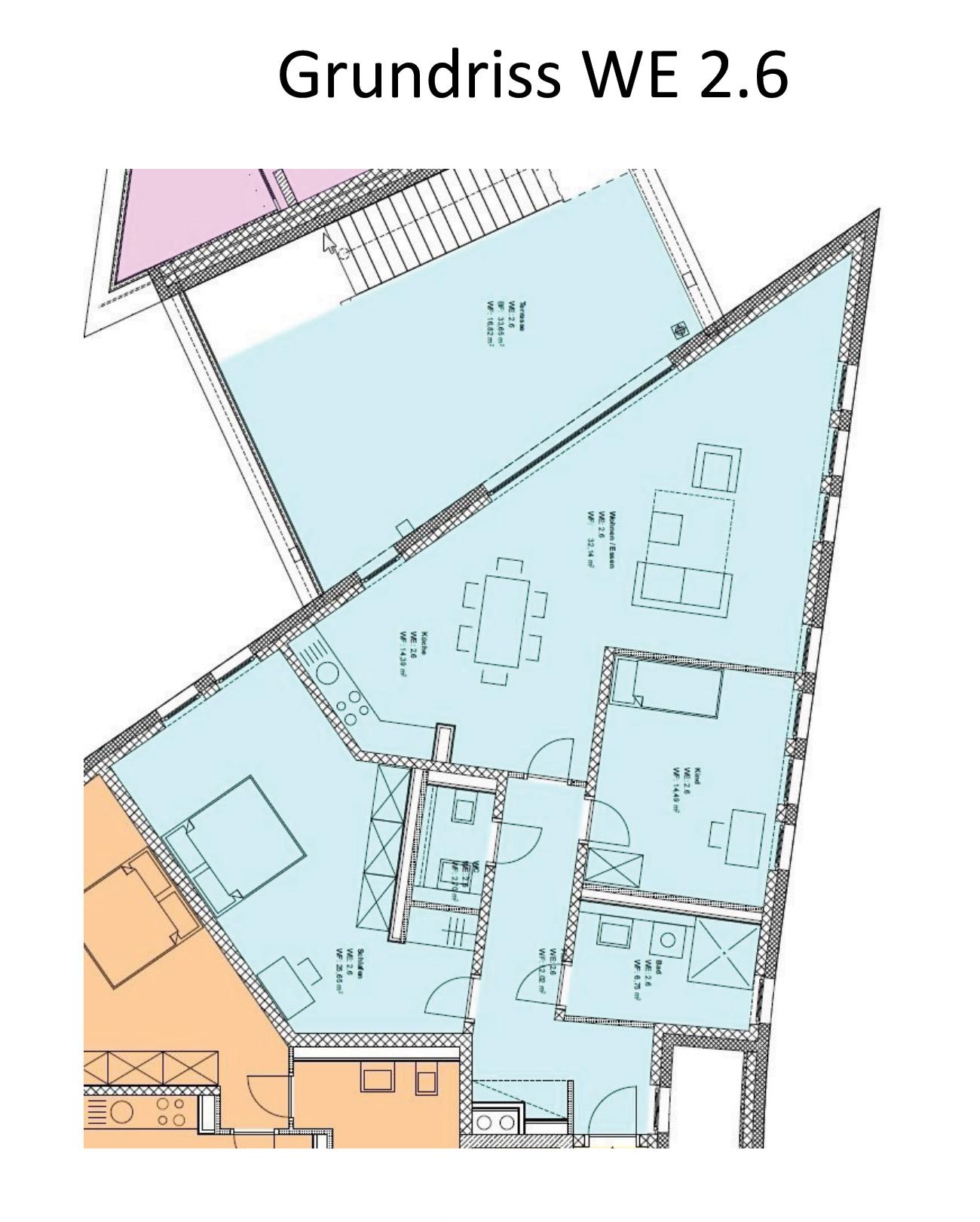 Grundriss Zeichnung Wohnung Overrath